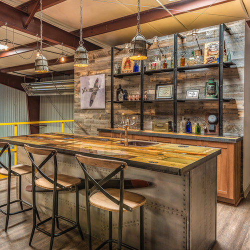 Industrial Home Bar Ideas Design Photos Houzz