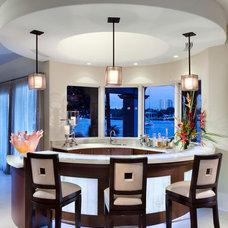 Mediterranean Home Bar by Martin Architect, Inc.