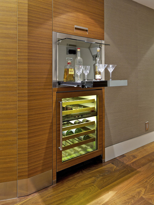 Mini bar houzz for Kitchen set mini bar