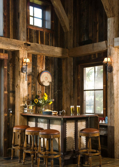 Rustic Home Bar by RMT Architects