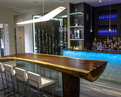 Bar De Salon Moderne Budget Lev Photos Et Id Es D Co