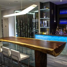 Contemporary Home Bar by Cantoni