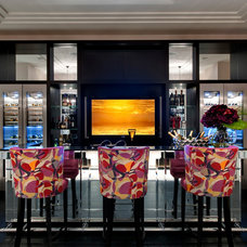 Contemporary Home Bar by The Art of Bespoke
