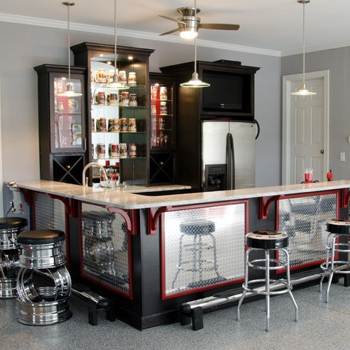 Home Bar Design Ideas Houzz: Fishing Themed Man Cave Accessories