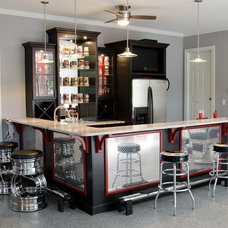 Contemporary Home Bar by Carpet One Floor and Home