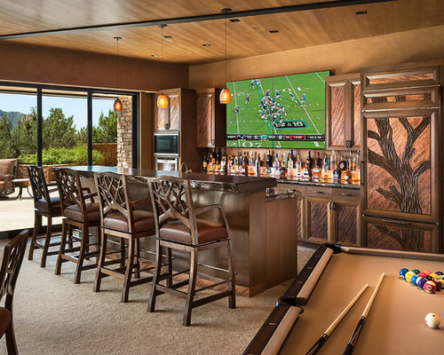 Best Southwestern Home Bar Design Ideas & Remodel Pictures | Houzz