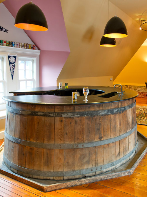 Whiskey Barrel Bar Home Design Ideas Pictures Remodel