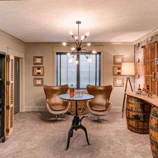 インディアナポリスのエクレクティックスタイルのおしゃれなホームバーの写真