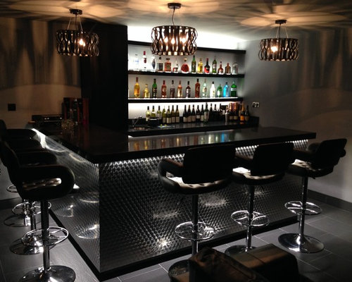 Photo Of A Contemporary Home Bar In Kent.