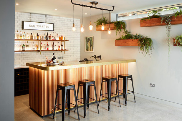Industrial Home Bar by ade architecture ltd