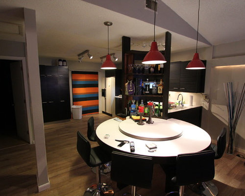 Black Home Bar Design Ideas, Remodels & Photos with ...