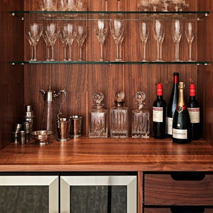 Modern home bar in Wiltshire.