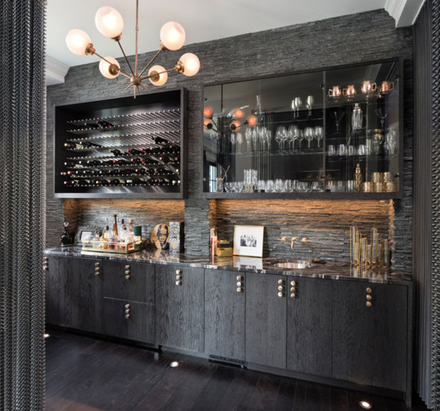 Houzz Tour: Glamorous Home Strikes A Bold Note In Black