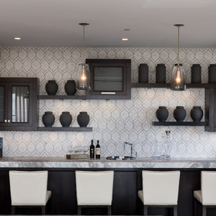 75 Modern Home Bar Design Ideas & Remodeling Pictures That Will ...