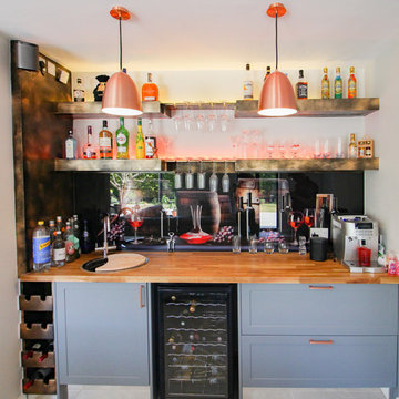 Incredible Kitchen Extension With Custom Bar