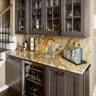 Top 20 Wet Bar With Stone Slab Backsplash Ideas U0026 Remodeling Pictures |  Houzz