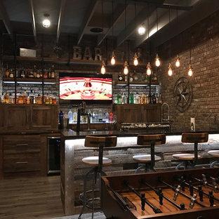 Immagine di un angolo bar industriale