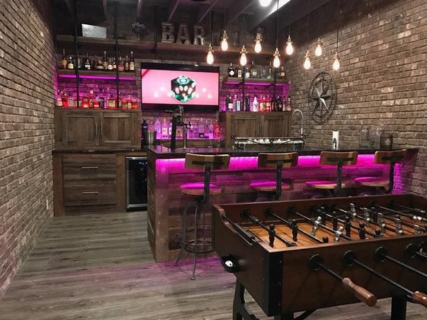 Industrial Home Bar by JR Custom Living