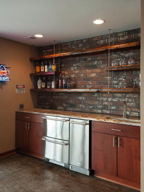 Industrial Home Bar Design Ideas Remodels Amp Photos