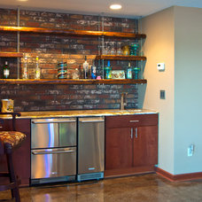 Contemporary Basement by Interior Trends Inc. Design & Remodeling