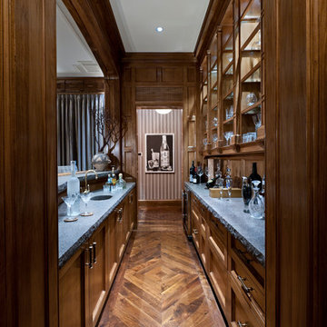 Interior Architecture of Classically Inspired Miami Indian Creek Home – Bar