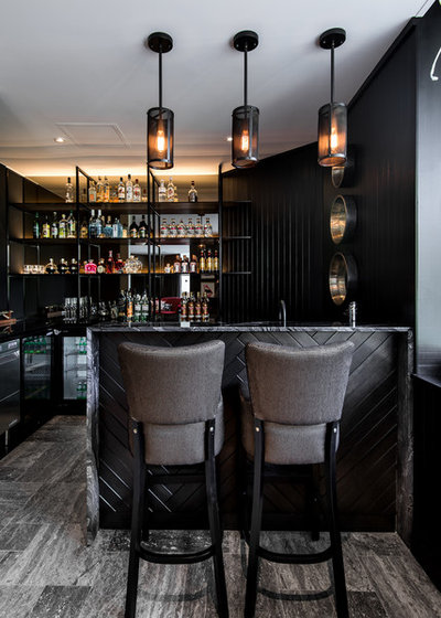 Contemporary Home Bar by Studio Atelier