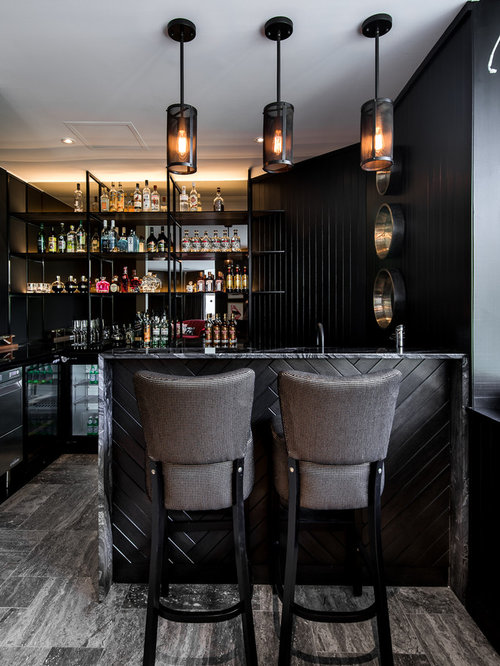 in home bar designs. Inspiration for a mid sized contemporary l shaped seated home bar in Perth  with Home Bar Design Ideas Renovations Photos