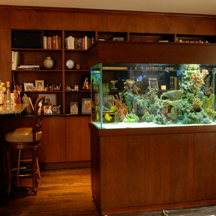 Island Style Freestanding Saltwater Aquarium with Custom Coral Reef Insert