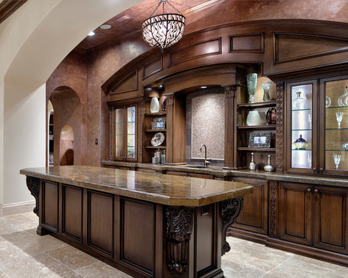 Houston Home Bar Design Ideas Pictures Remodel Decor With Glass Front Cabinets