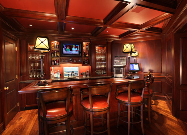 Traditional Home Bar by Current Concepts Home Automation
