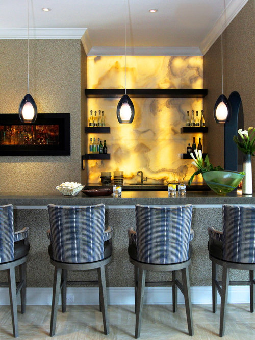 25 All-Time Favorite Home Bar with Yellow Backsplash Ideas ...