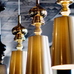 Josephine T Pendant Light by Jaime Hayon in Gold in Home Bar