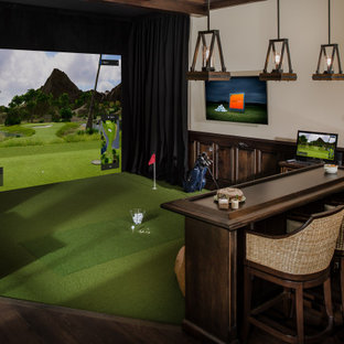 Keenes Pointe Trackman Golf Room