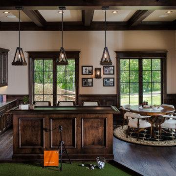 Keenes Pointe Trackman Golf Room