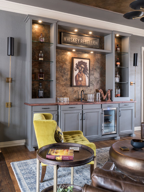 Top 20 Eclectic Home Bar Ideas & Decoration Pictures | Houzz