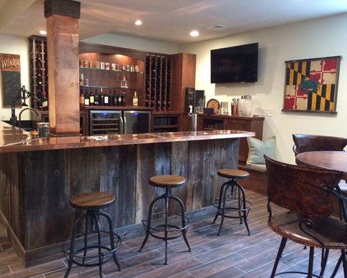 10 Best Home Bar with Copper Countertops Ideas & Photos | Houzz