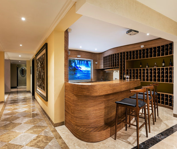 Contemporary Home Bar by Shamanth Patil Photography