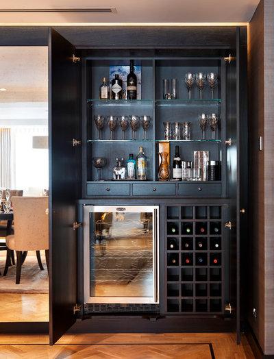 Contemporary Home Bar by Folde Design Ltd.