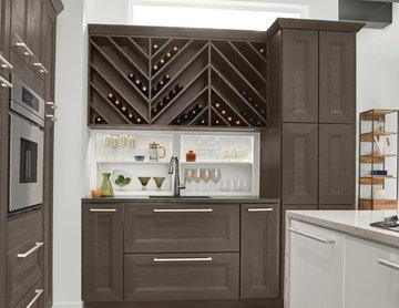 KraftMaid: Wet Bar and Wine Storage