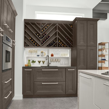 KraftMaid: Wet Bar and Wine Storage