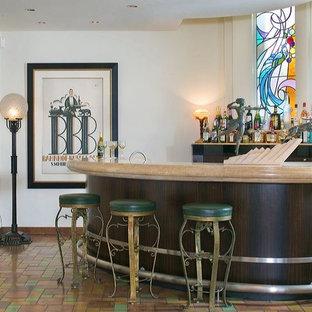 Brilliant 75 Most Popular Traditional Terra Cotta Floor Home Bar Home Interior And Landscaping Oversignezvosmurscom
