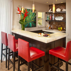 Tropical Dining Room by The Kitchenworks