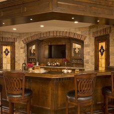 Traditional Home Bar by Martha O'Hara Interiors
