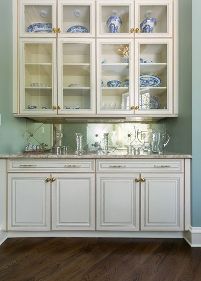 Luxury Transitional Home Bar by Classic Kitchens of Charleston
