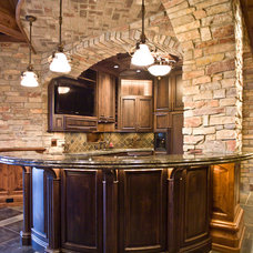 Traditional Home Bar by Jarrod Smart Construction
