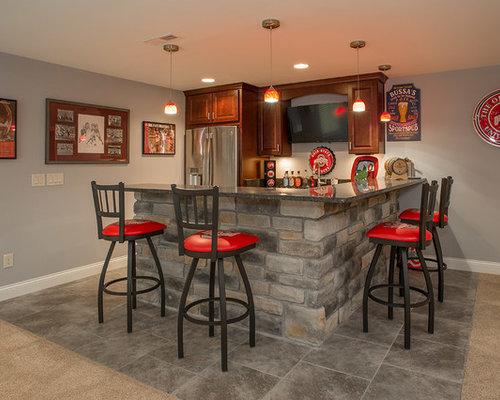 Transitional Cincinnati Home Bar Design Ideas Remodels Photos