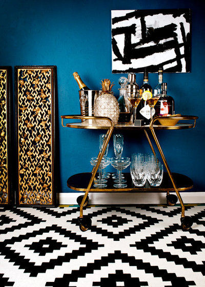Contemporary Home Bar by Eleanor Baines Photography