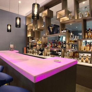 Luxury Bespoke Bar with White Onyx Backlit Worktop