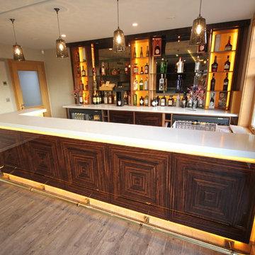 Luxury Home Bar in Macassar Ebony
