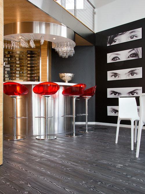 Home Bar   Mid Sized Modern Home Bar Idea In Denver